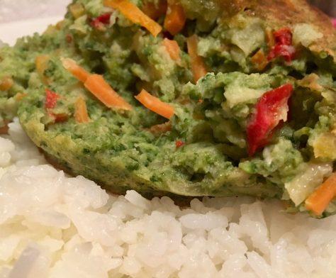 Roasted Vegetable Bake Over Rice
