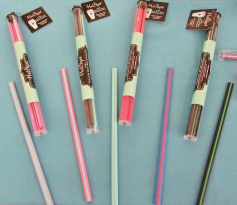 Hot Sips Straws Display
