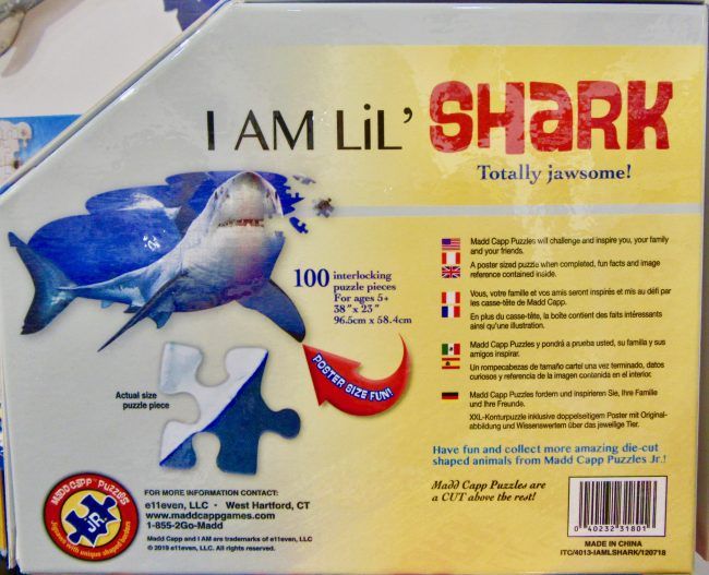 Shark Attack Jigsaw Puzzle Back of Box