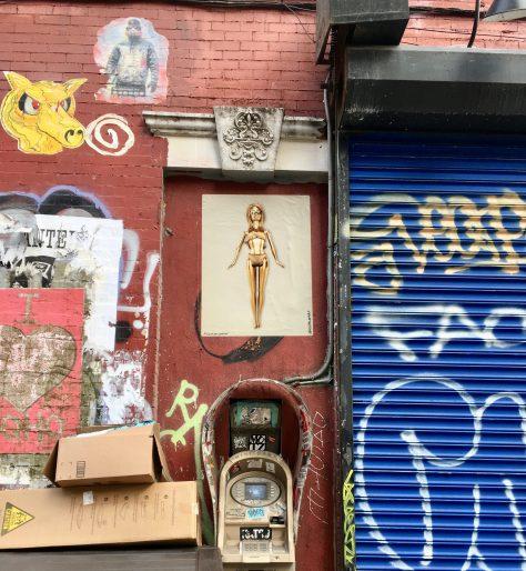 Golden Barbie Street Shrine