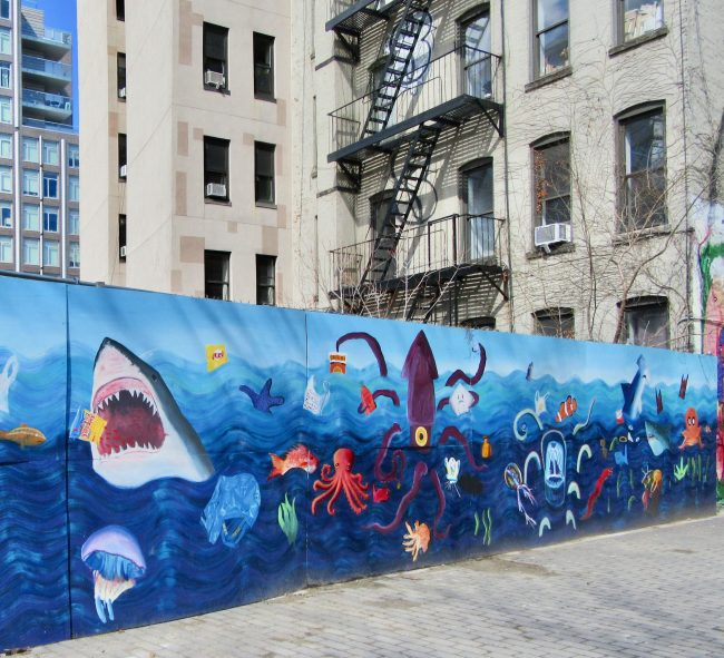 Shark Attack Sea Life Mural