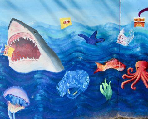 Shark Attack Mural Detail