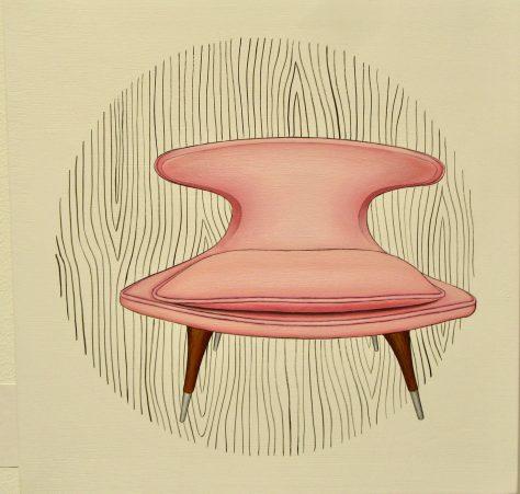 Pink Horn Chair