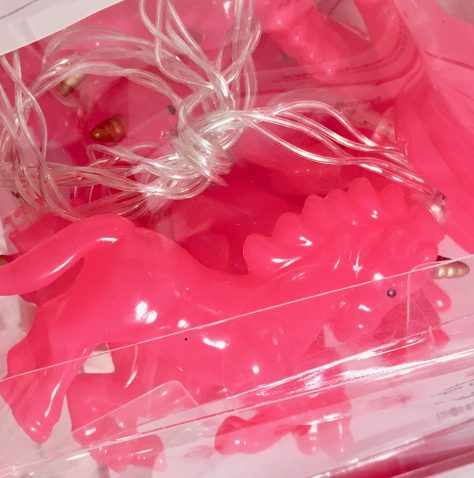 Pink Unicorn String Lights Detail
