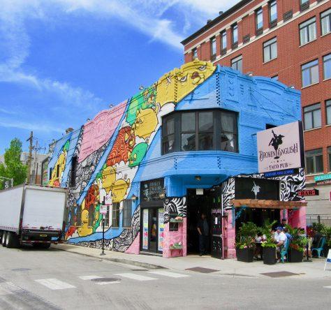 Broken English Taco Pub Mural