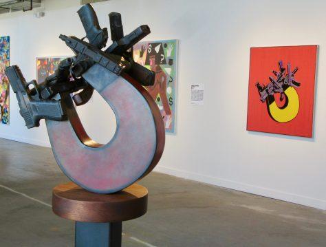 Gun Magnet Sculpture