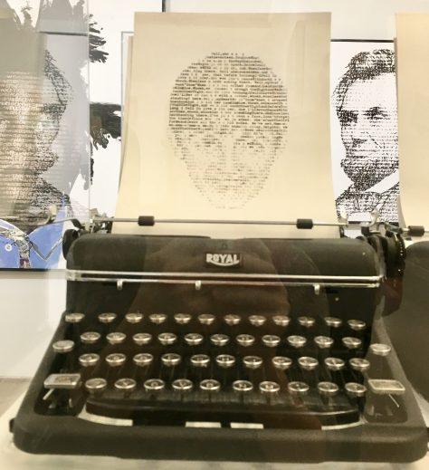 Paul McCartney Typewriter Photo By Gail