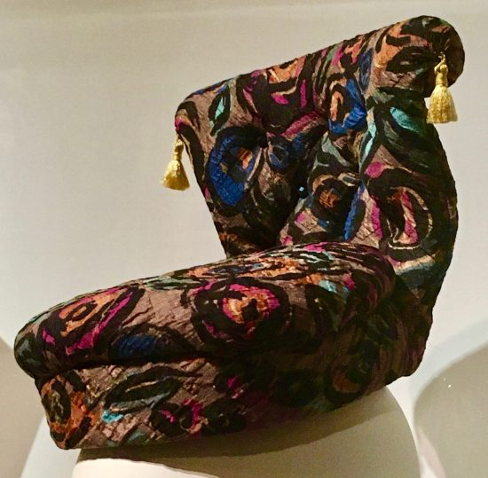 upholstered chair hat by karl lagerfeld photo by gail worley