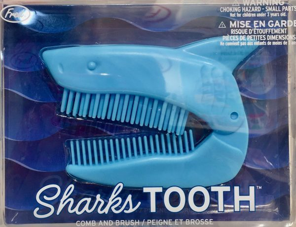 sharks tooth folding comb and brush photo by gail