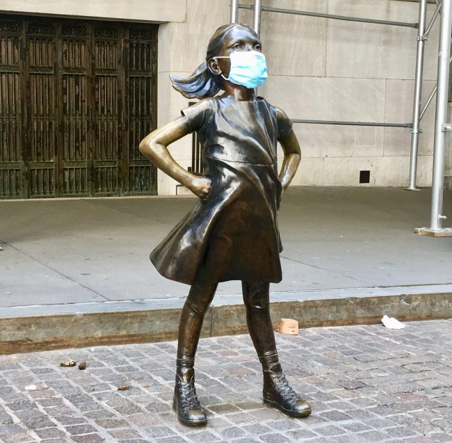 defiant girl in mask photo by gail worley