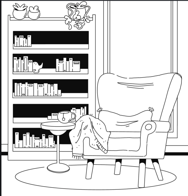long chair coloring book