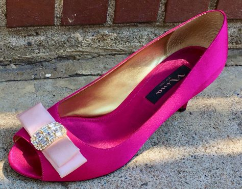 pink heeled shoe photo by gail