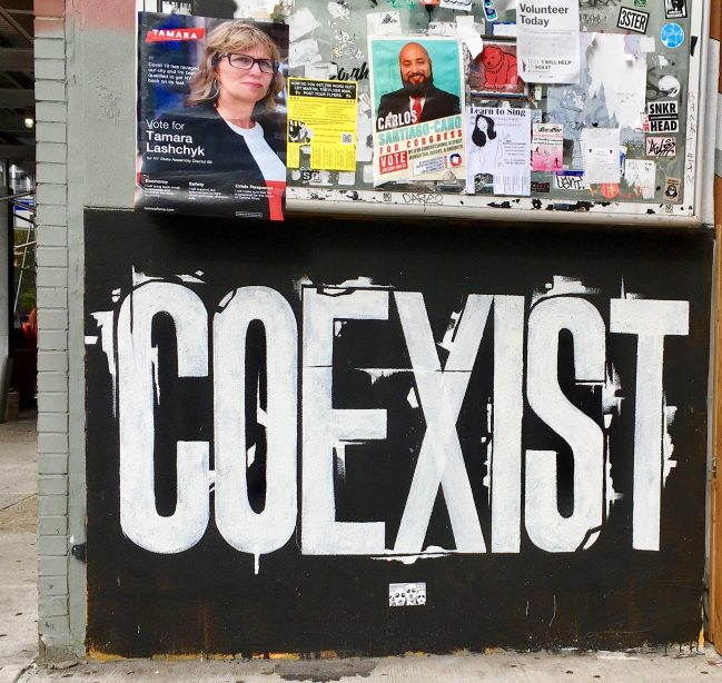 coexist mural photo by gail worley