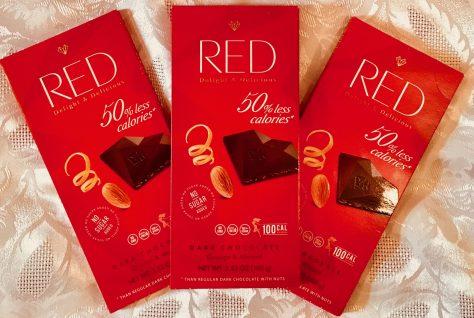 red orange almond dark chocolate wrapped