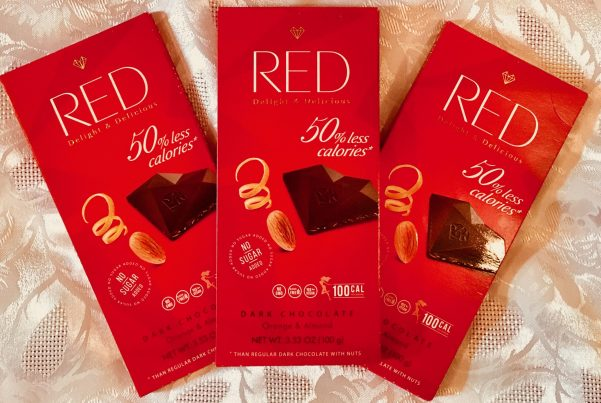 red orange almond dark chocolate wrapped