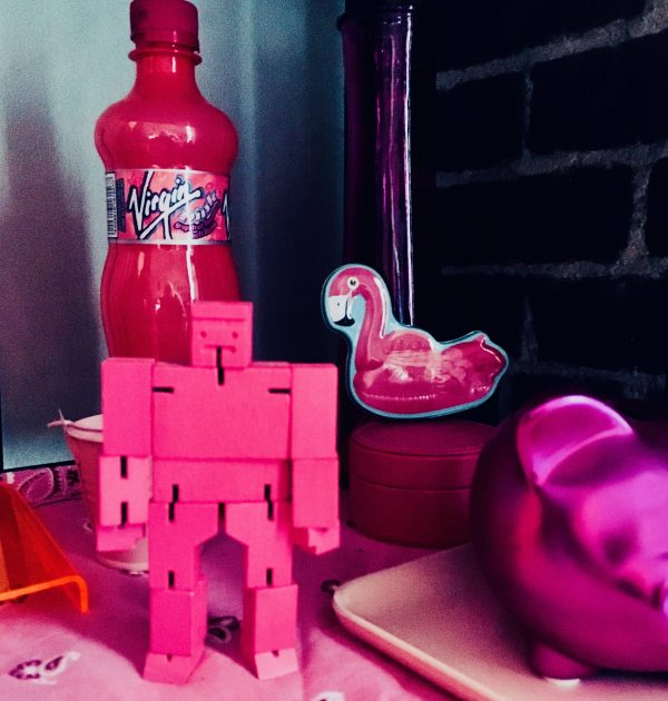 pink toy robot photo by gail worley