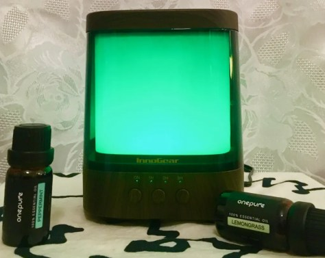 aromatherapy diffuser green and oils photo by gail worley