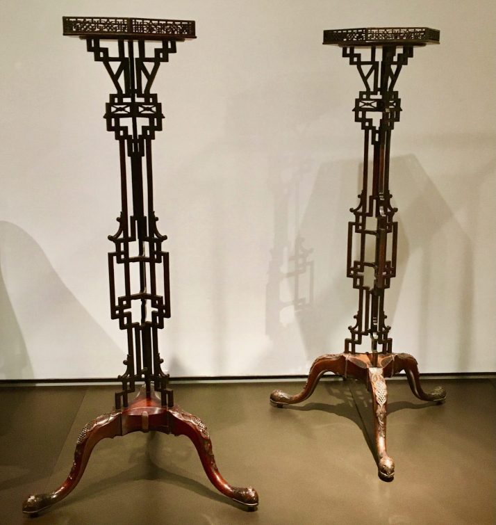 pair of fretted candle stands 2 photo by gail worley