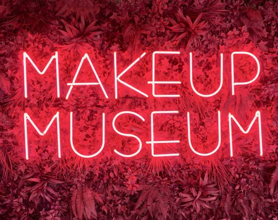 make up museum neon sign photo by gail worley