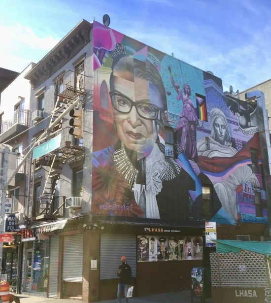 rbg mural sunny day photo by gail worley