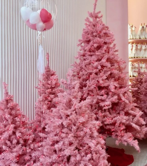 pink christmas trees photo by gail worley