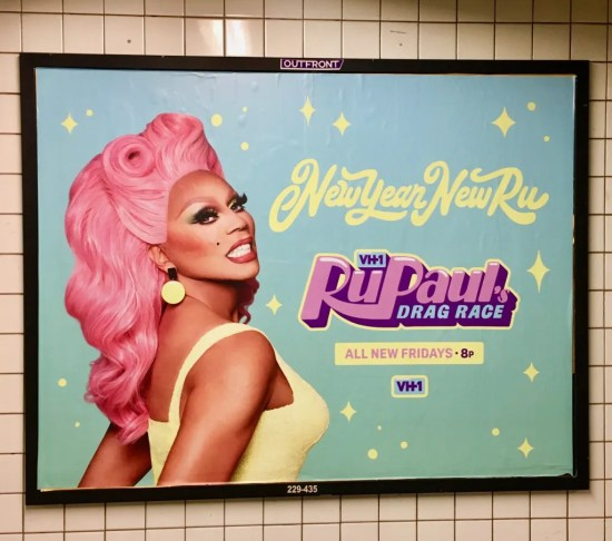 rupauls drag race subway ad photo by gail worley