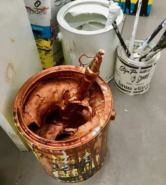 joyce pensato paint cans photo by gail worley