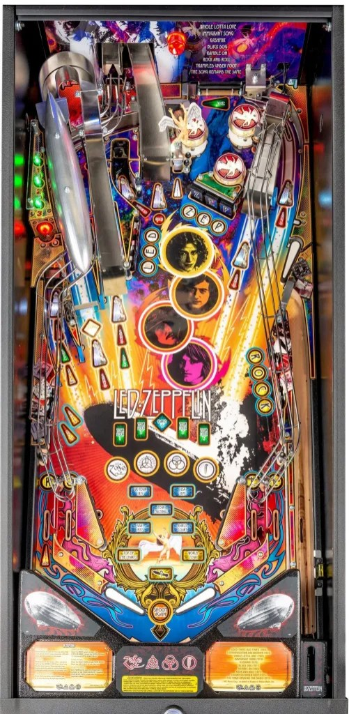 led zeppelin top of pinball game view