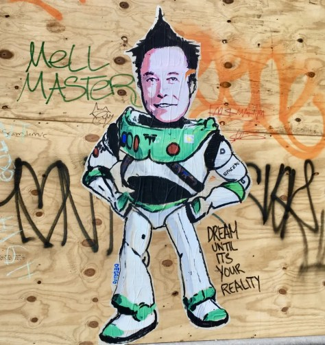 elon musk by degruppo photo by gail worley