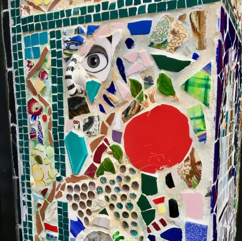 eye and apple mosaic photo by gail worley