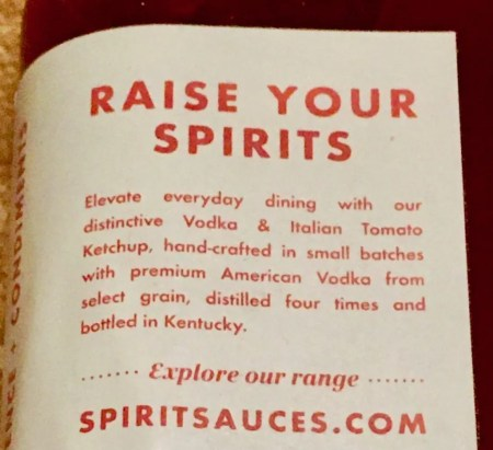 vodka ketchup back label photo by gail worley
