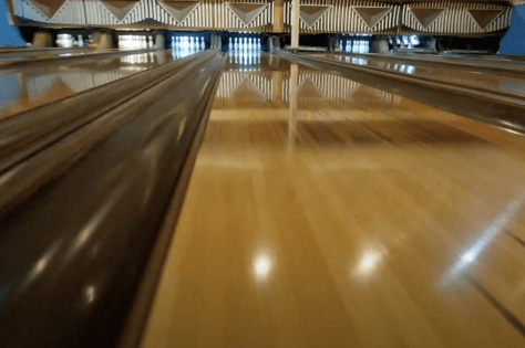 drone in bowling alley