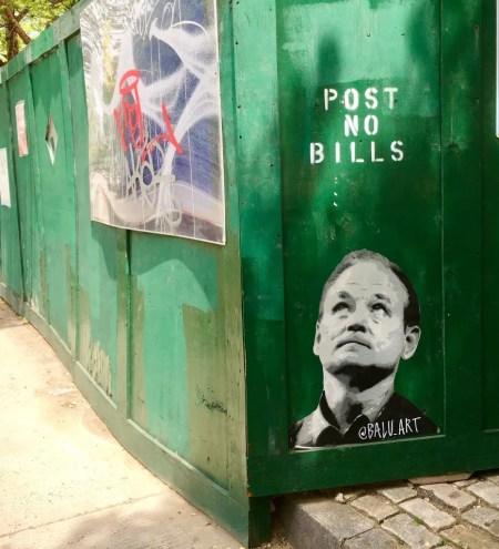 bill murray street art photo by gail worley