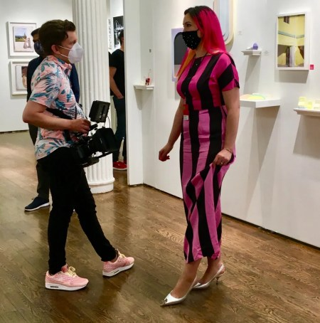 treat gallery lady in pink dress photo by gail worley