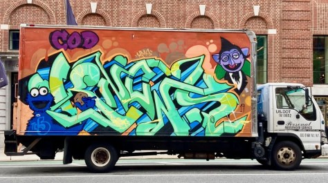 sesame street box truck photo by gail worley