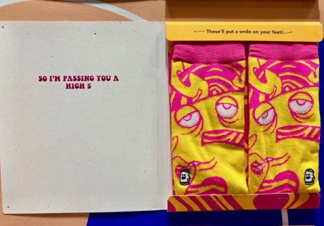 high five sock card and socks photo by gail worley
