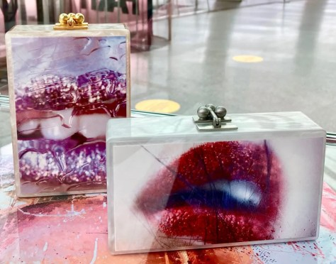 wet kiss and glitter lips clutch photo by gail worley