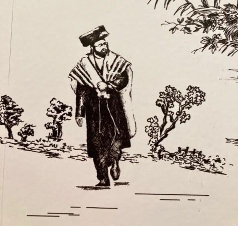 hasidic jew on wallpaper photo by gail worley