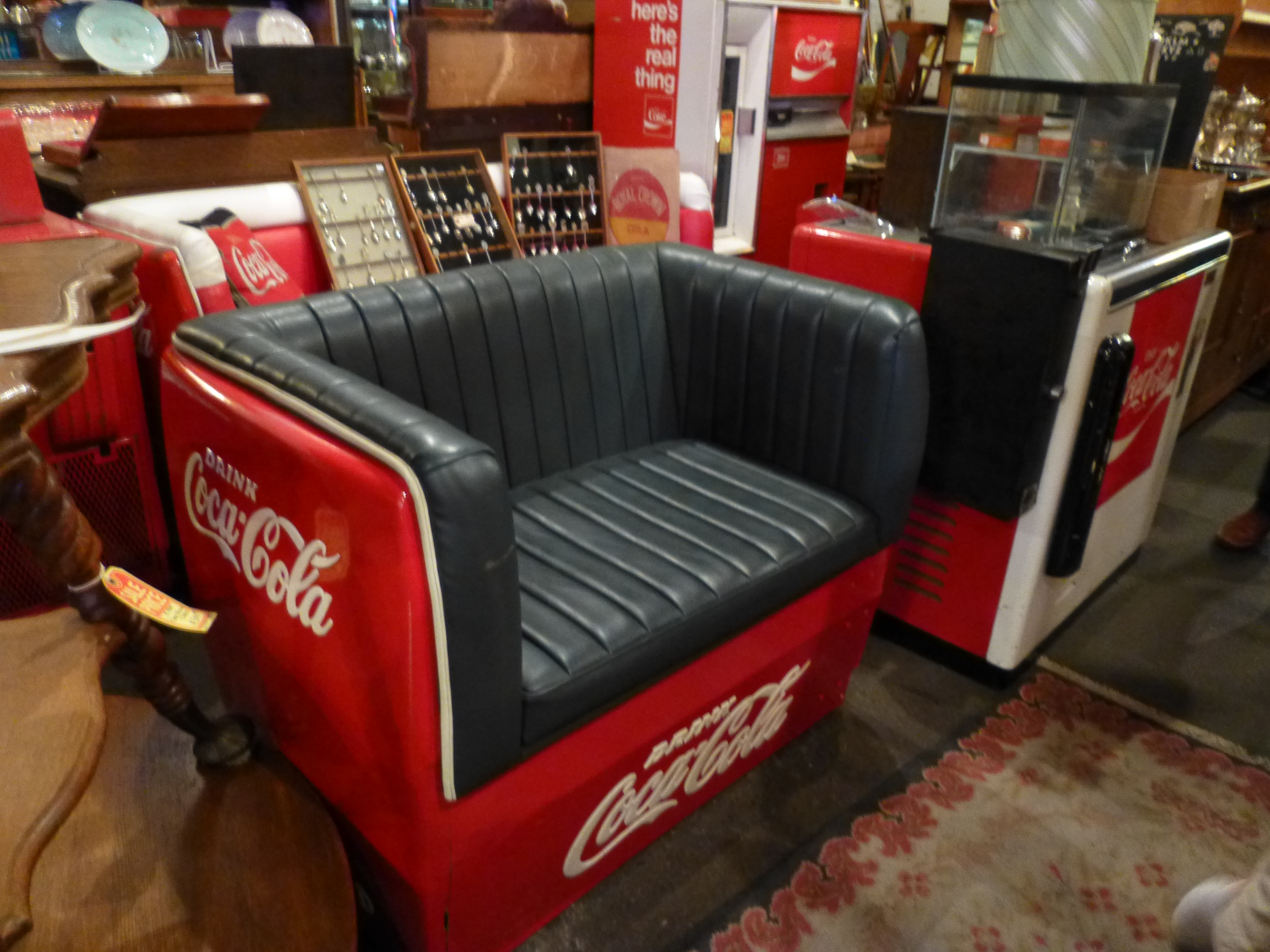 Coca Cola Table And Chairs Vintage Coca Cola Cooler Furniture The Worley Gig