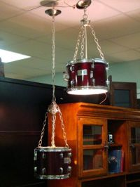 Suspended Lighting From Upcycled Pearl Drums | The Worley Gig