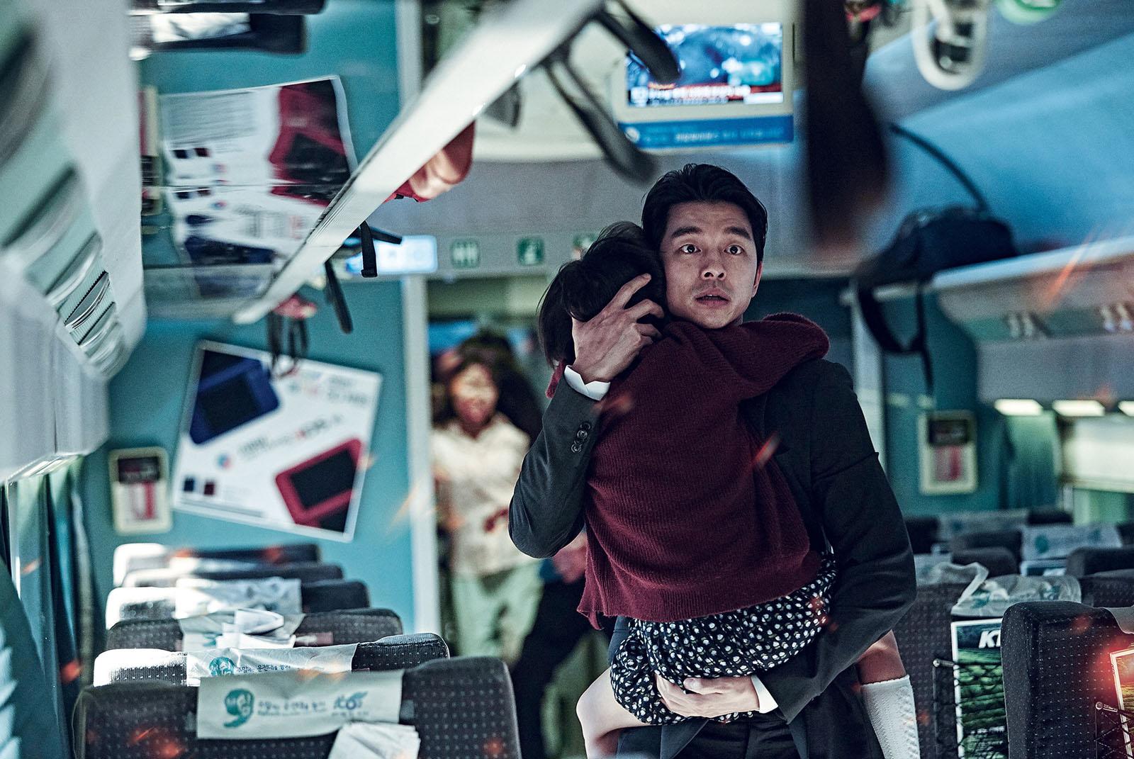 Seok-woo (Gong Yoo) protège sa fille coûte que coûte