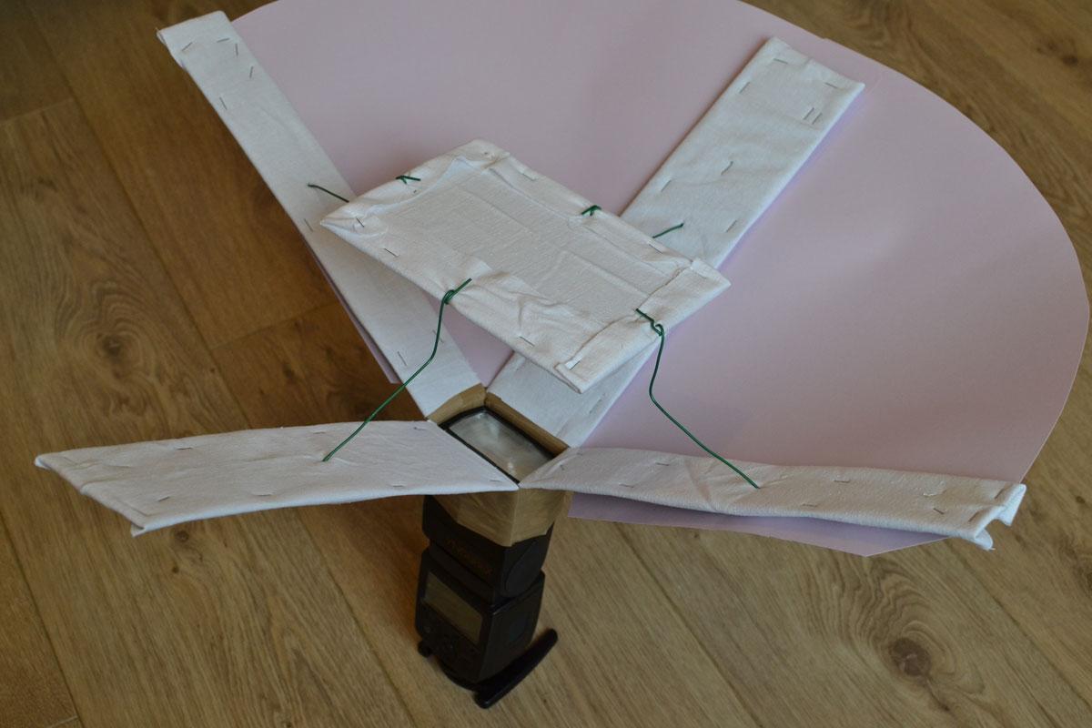 Cinquième étape : assemblez l'arrière de la lightbox grâce au papier cartonné