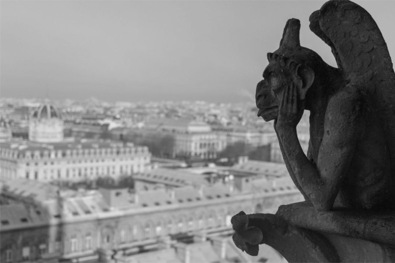 Une gargouille de Notre Dame de Paris