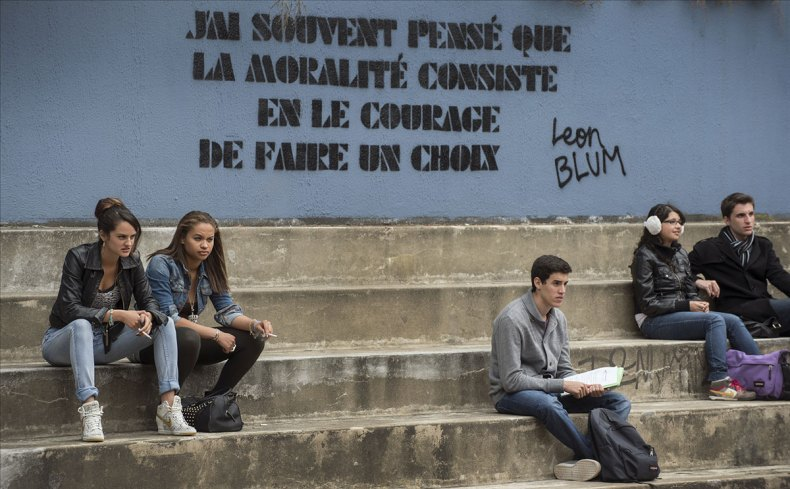 Le lycée Léon Blum, théâtre principal du film