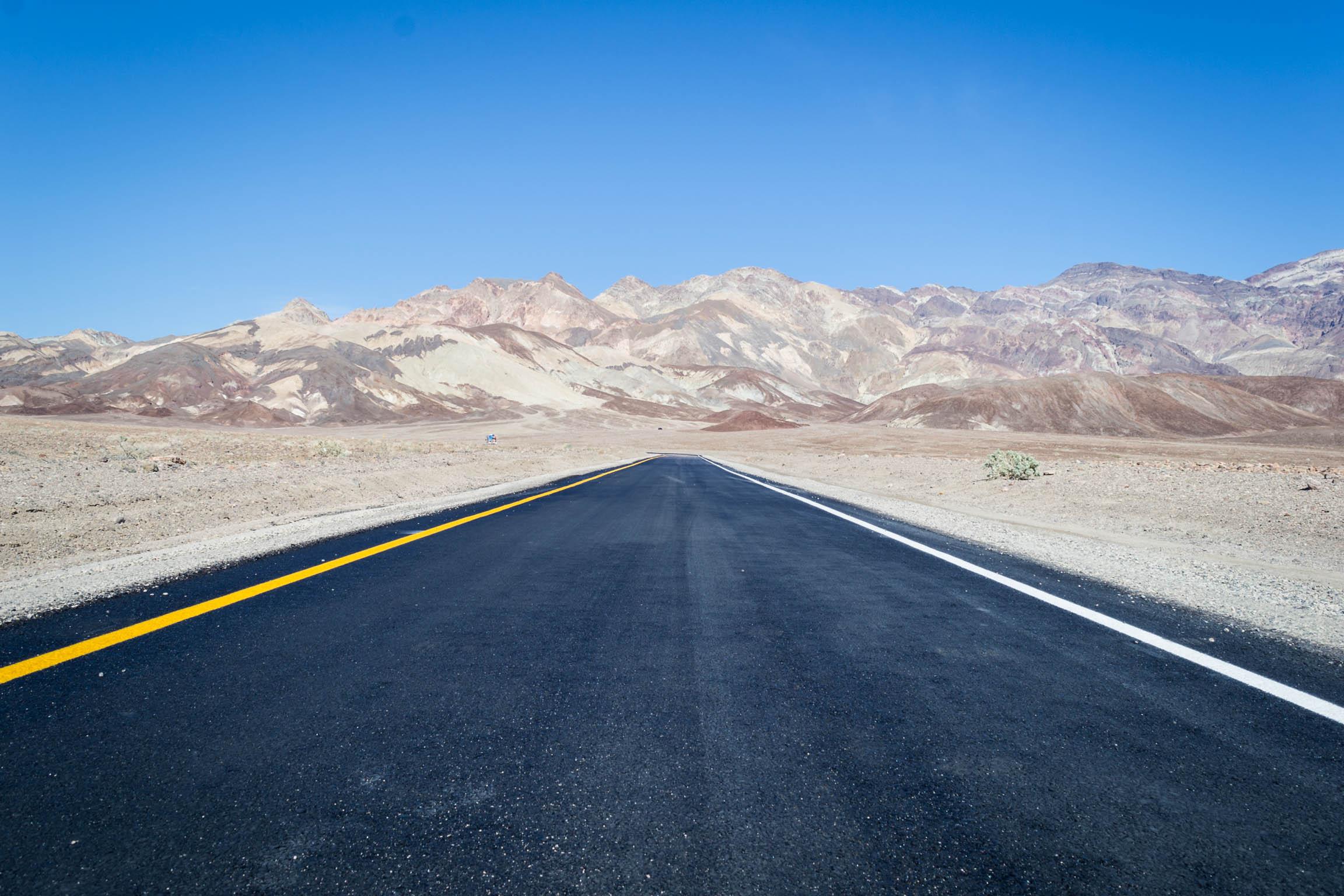 La route vers Artists Point