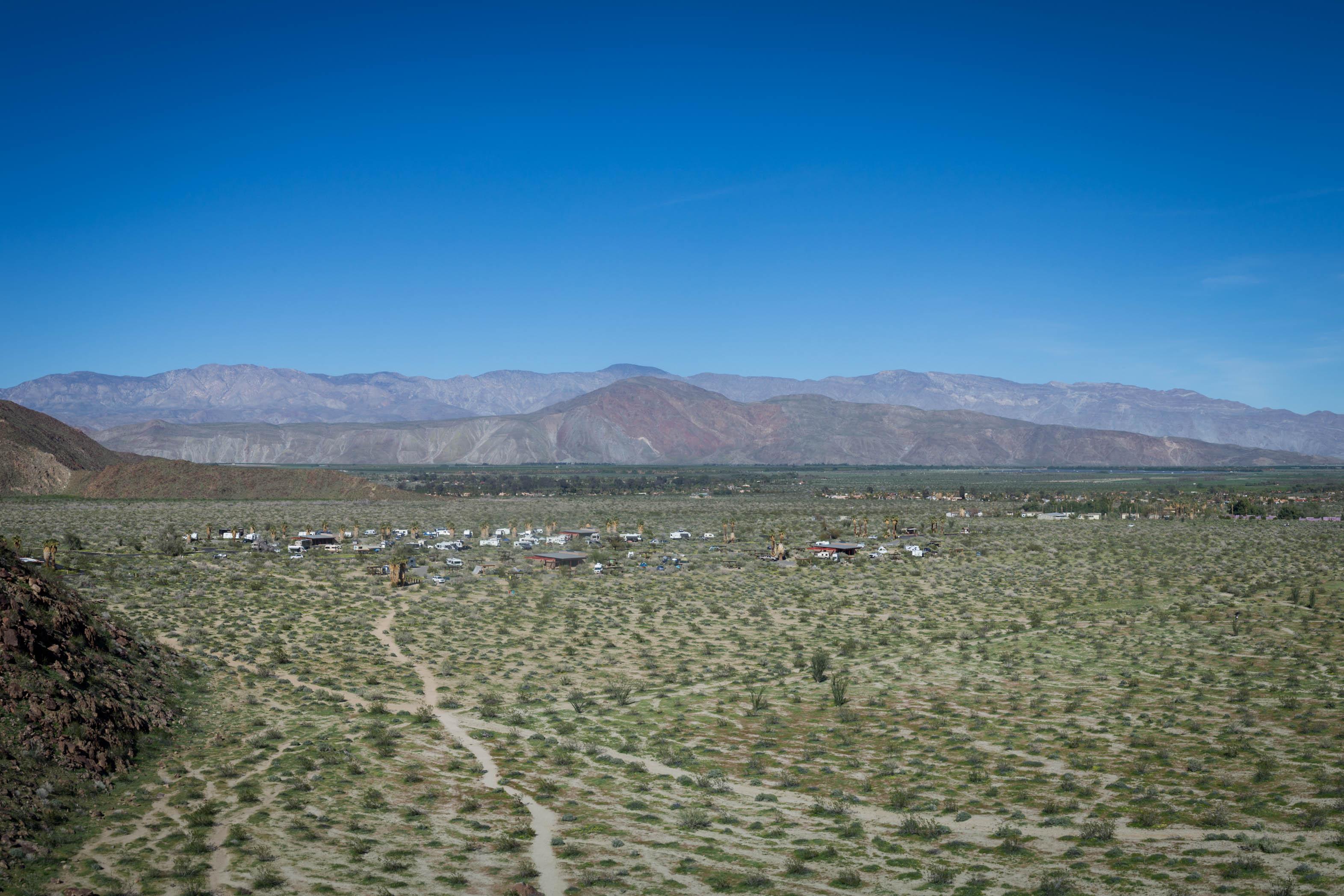 Point de vue sur l'Anza Borrego Desert State Park