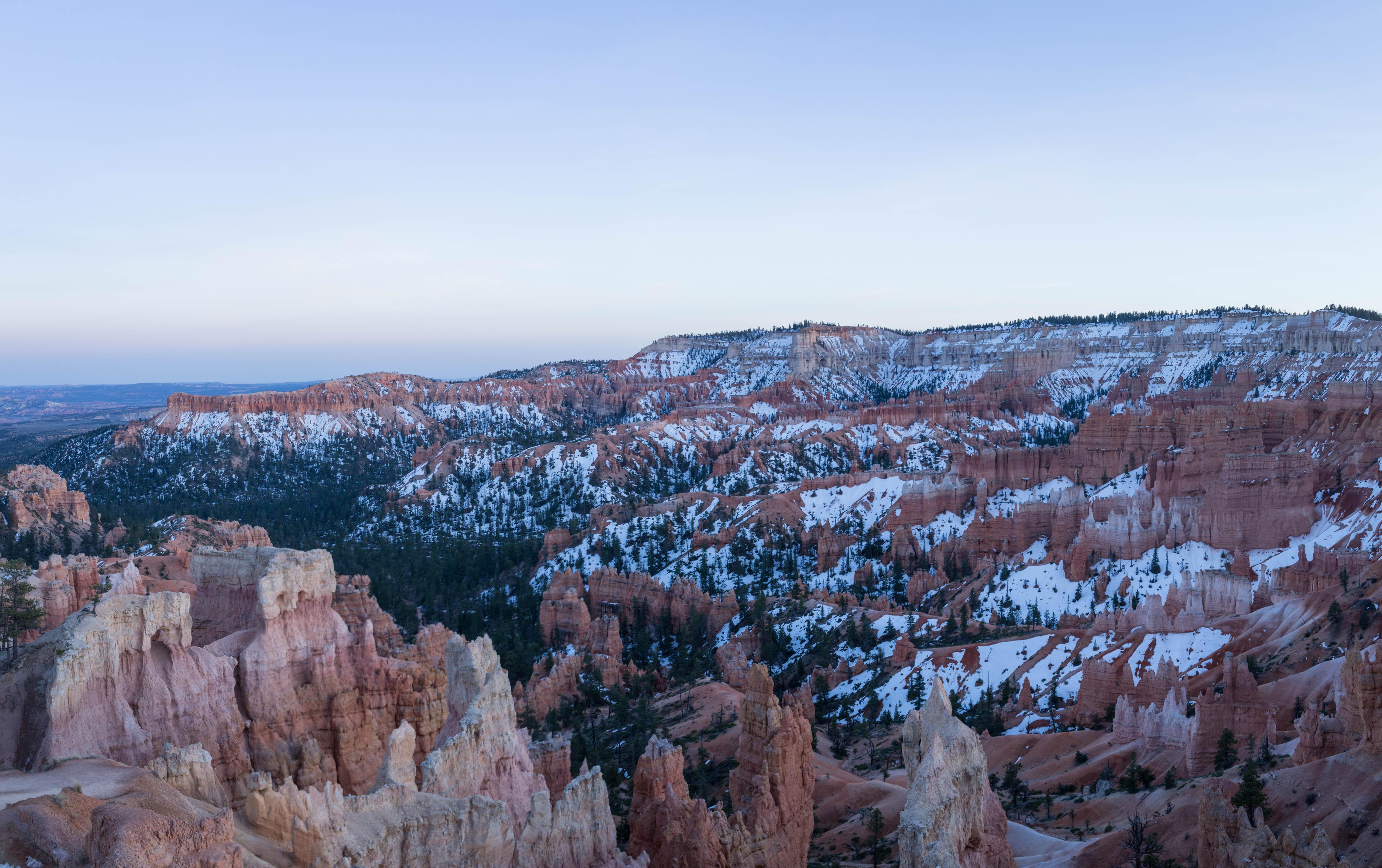 Le Bryce Canyon à l'heure bleue