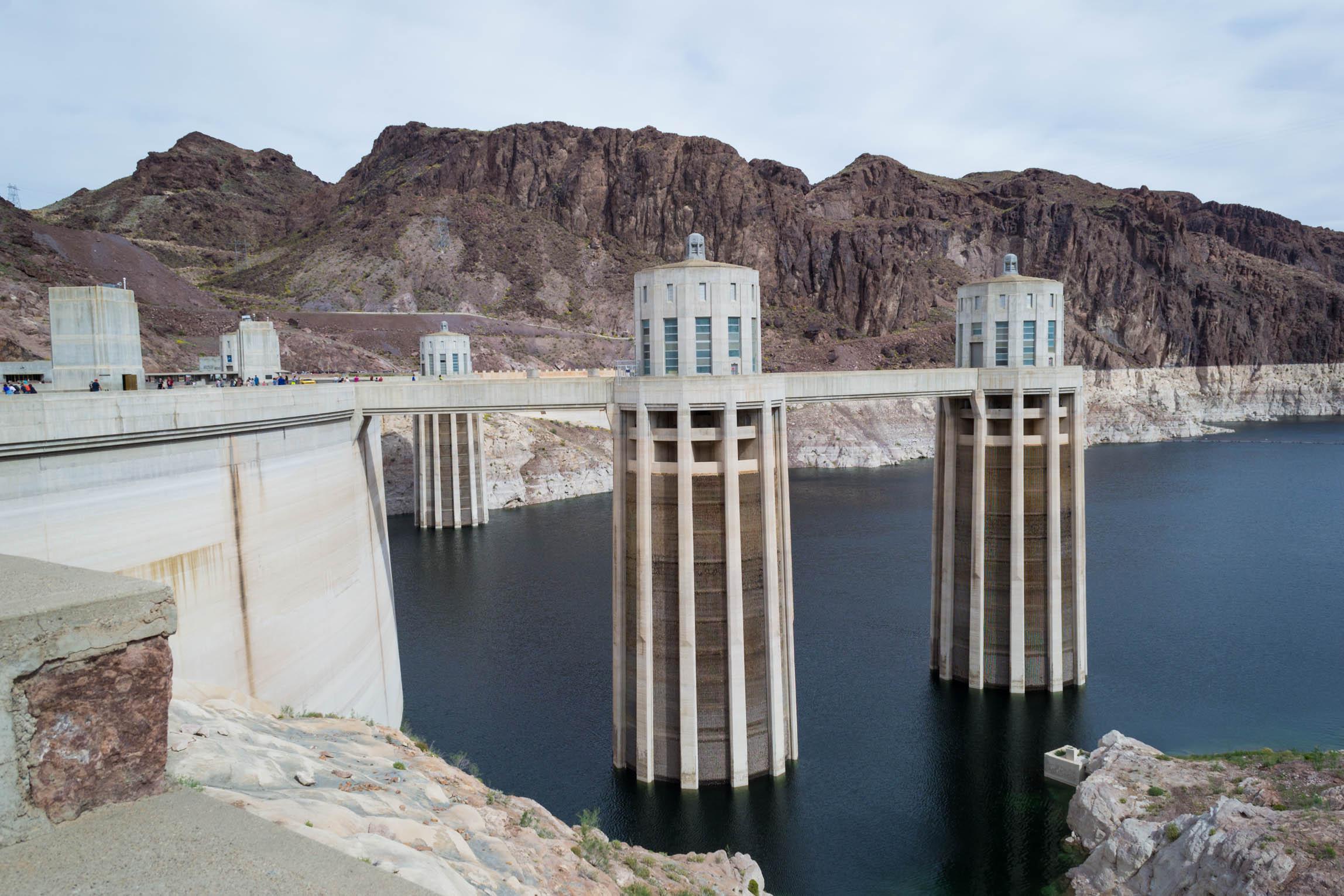 Le barrage Hoover, du côté du Lac Mead