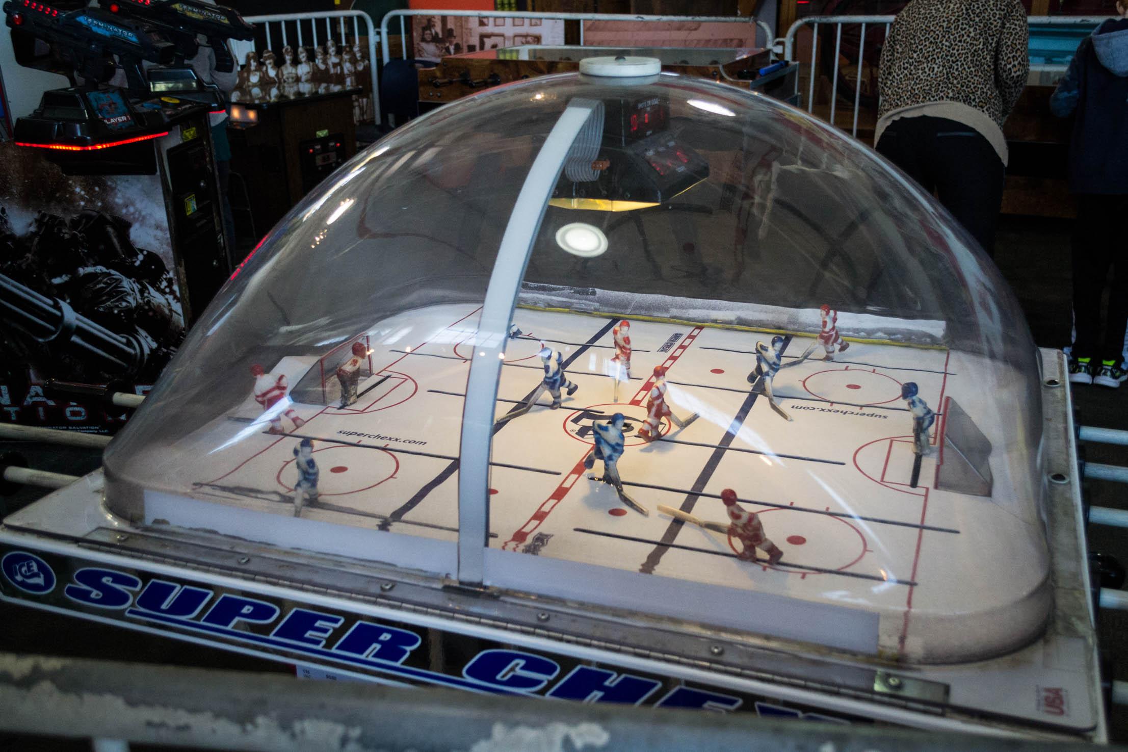 Un des vieux jeux d'arcade du musée