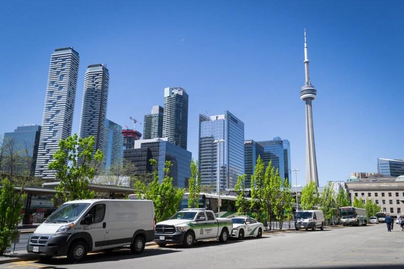 La Tour CN ainsi que le Downtown de Toronto